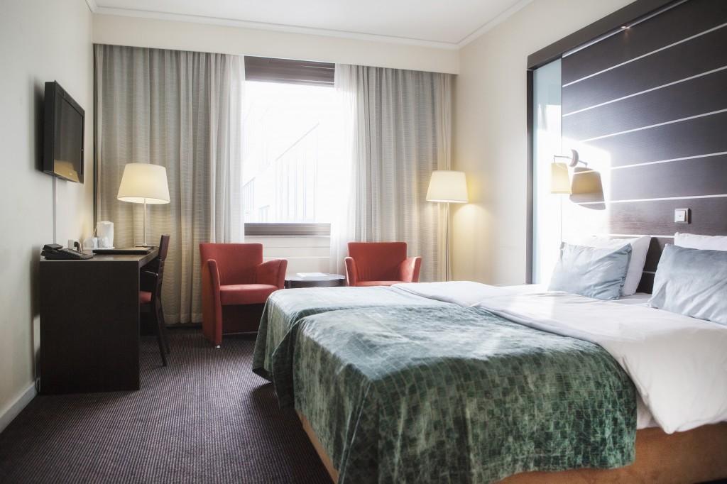 Her ser du et eksempel på et superior hotellrom.