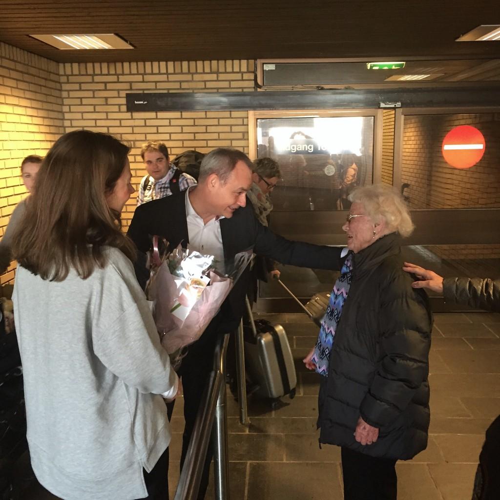 Da Crown var vel fremme i Oslo, ventet DFDS sin norske sjef, Roar Funderud, og Linda Palmqvist fra markedsavdelingen, på Solveig.