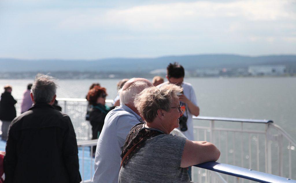 Soldekket er populært både på vei fra Oslo, og under innseilingen til København.