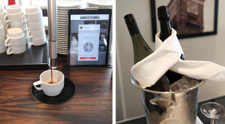 I Executive lounge kan du ta en kaffe eller et glass vin.