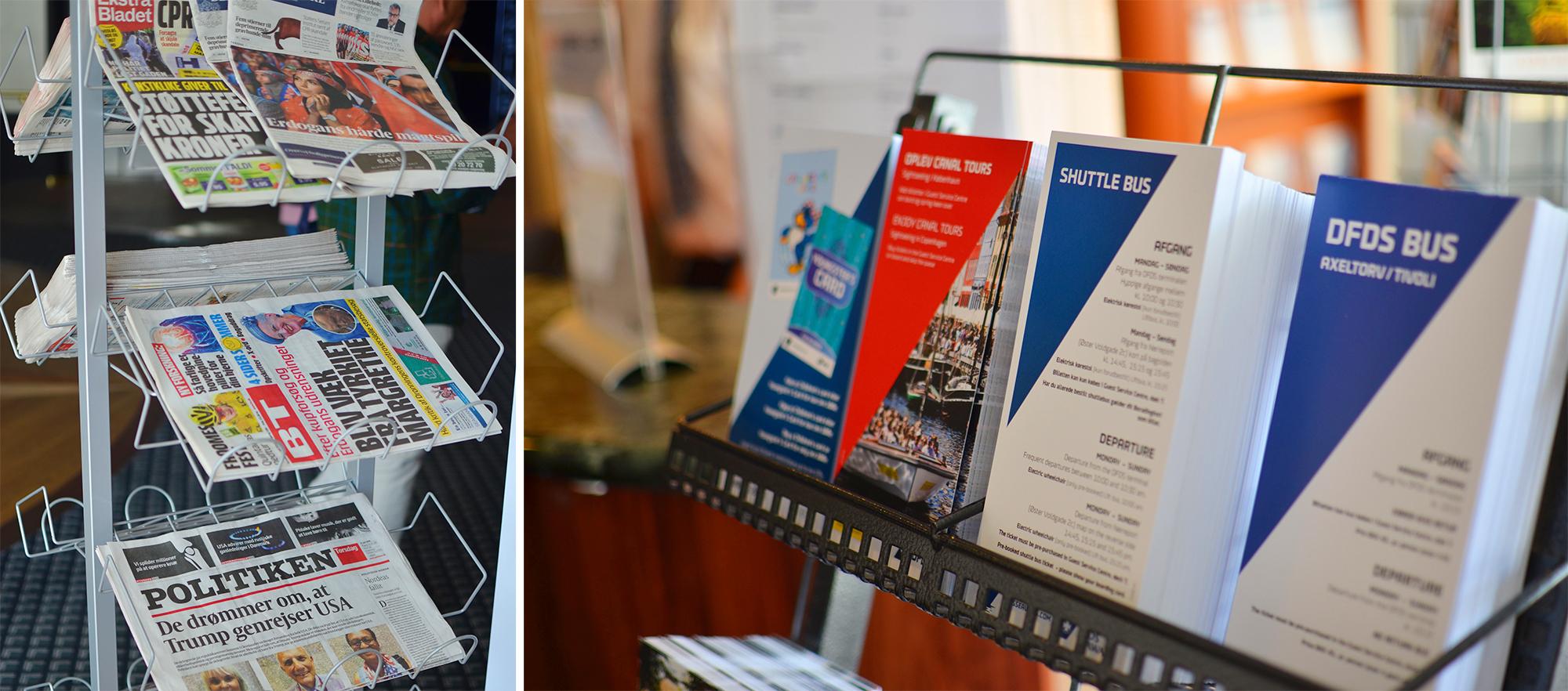 I Guest Service Center finner du både nyheter og praktisk informasjon.
