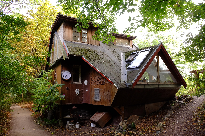 Mange veldig uvanlige hus i Christiania.